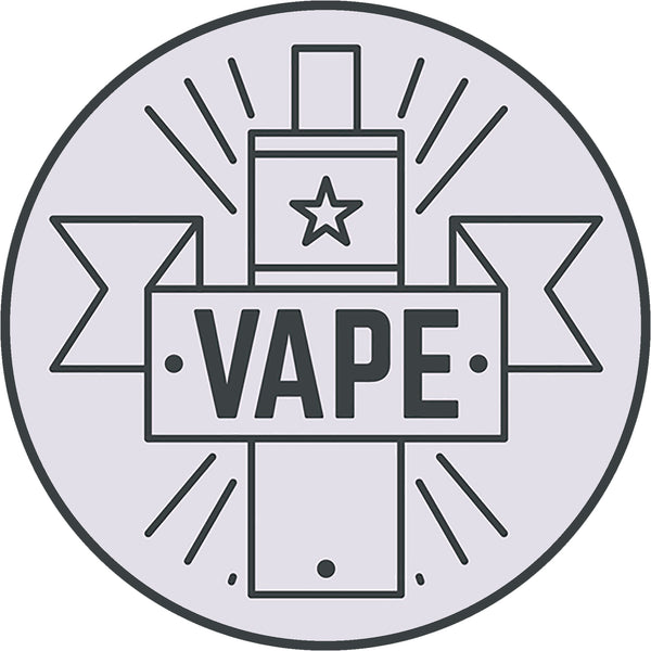 Cool Simple Vape Vapers Cartoon Logo Art Icon #2 Vinyl Sticker