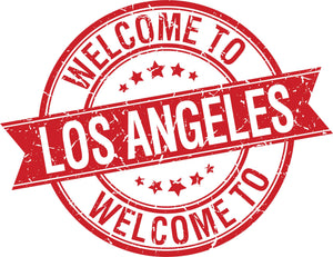 Cool Simple Welcome to Travel Stamp - Los Angeles Vinyl Sticker