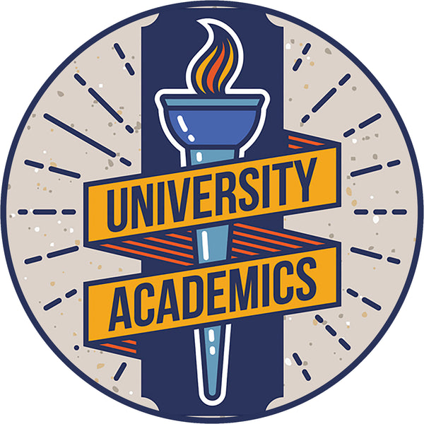 Cool University College Vintage Cartoon Art Logo Icon #4 Vinyl Sticker