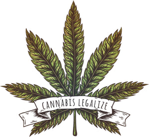 Cool Vintage Hipster Cannabis Legalize Cartoon Icon Vinyl Decal Sticker