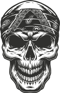 Cool Vintage Retro Thug Gangster Skull Cartoon #5 Vinyl Decal Sticker