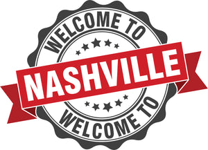 Cool Vintage Stamp Sign Cartoon Icon - Welcome to Nashville Vinyl Decal Sticker