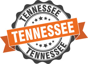 Cool Vintage Stamp Sign Cartoon Icon - Welcome to Tennessee Vinyl Decal Sticker