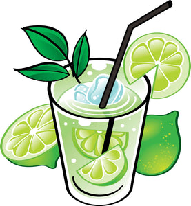 Cool Yummy  Summer Lime Mojito Cartoon Vinyl Decal Sticker