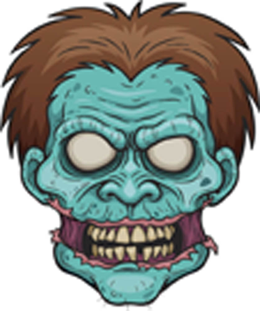 Creepy Scary Vintage Retro Monster Cartoon - Zombie Head Vinyl Decal Sticker