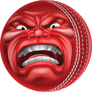 Creepy Angry Red Stitched Ball Cartoon Vinyl Decal Sticker