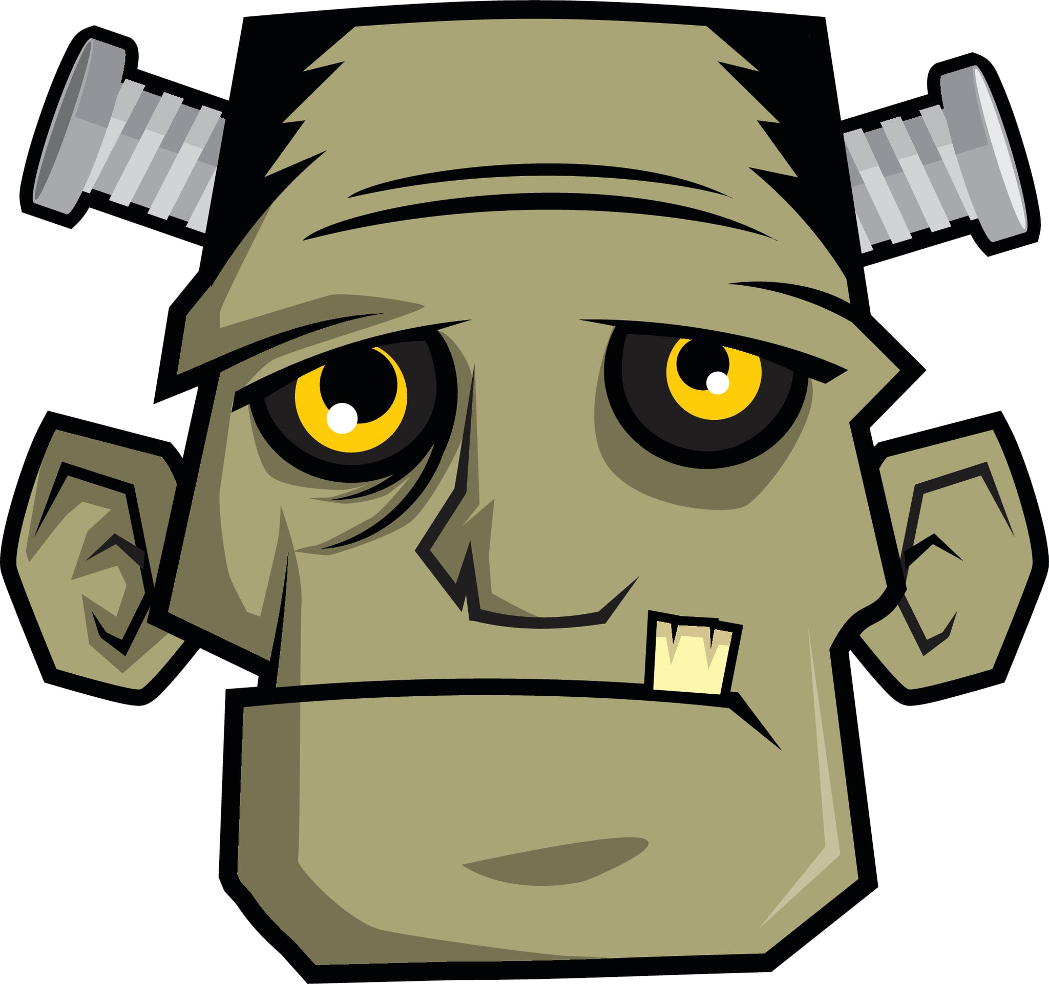 Creepy Cartoon Classic Horror Monster - Frankenstein Vinyl Decal Sticker