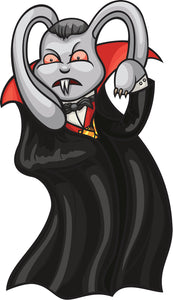 Creepy Dracula Bunny Rabbit Cartoon Vinyl Decal Sticker