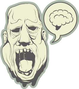 Creepy Monster with Melting Skin Icon Vinyl Decal Sticker