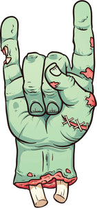 Creepy Rocker Zombie Hand Cartoon Vinyl Decal Sticker