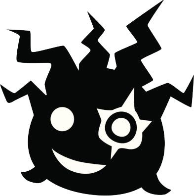 Creepy Silly Black Silhouette Doodle #10 Vinyl Decal Sticker