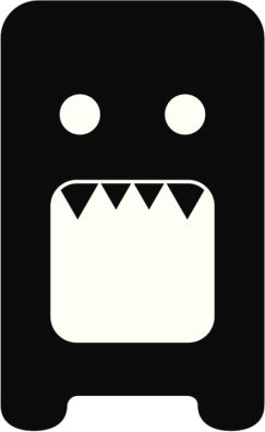 Creepy Silly Kid Monster Silhouette #11 Vinyl Decal Sticker