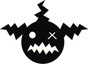 Creepy Silly Kid Monster Silhouette #2 Vinyl Decal Sticker