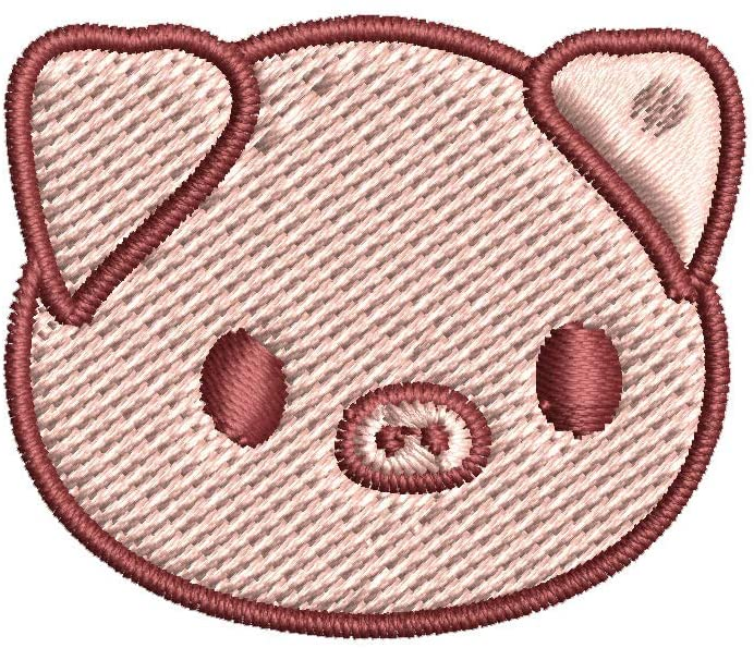 Iron on / Sew On Patch Applique Cute Baby Country Animal - Piggie Piglet Embroidered Design