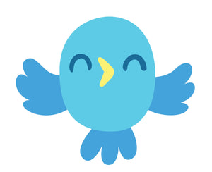 Cute Adorable Colorful Tweety Bird - Aqua Blue Vinyl Decal Sticker