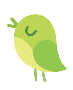 Cute Adorable Colorful Tweety Bird - Lime Green Vinyl Decal Sticker