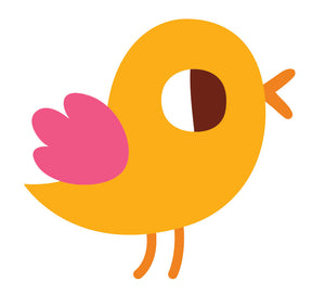 Cute Adorable Colorful Tweety Bird - Orange Pink Vinyl Decal Sticker