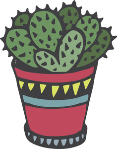 Cute Adorable Desert Succulent Cactus Plant Cartoon #16 Vinyl Decal Sticker