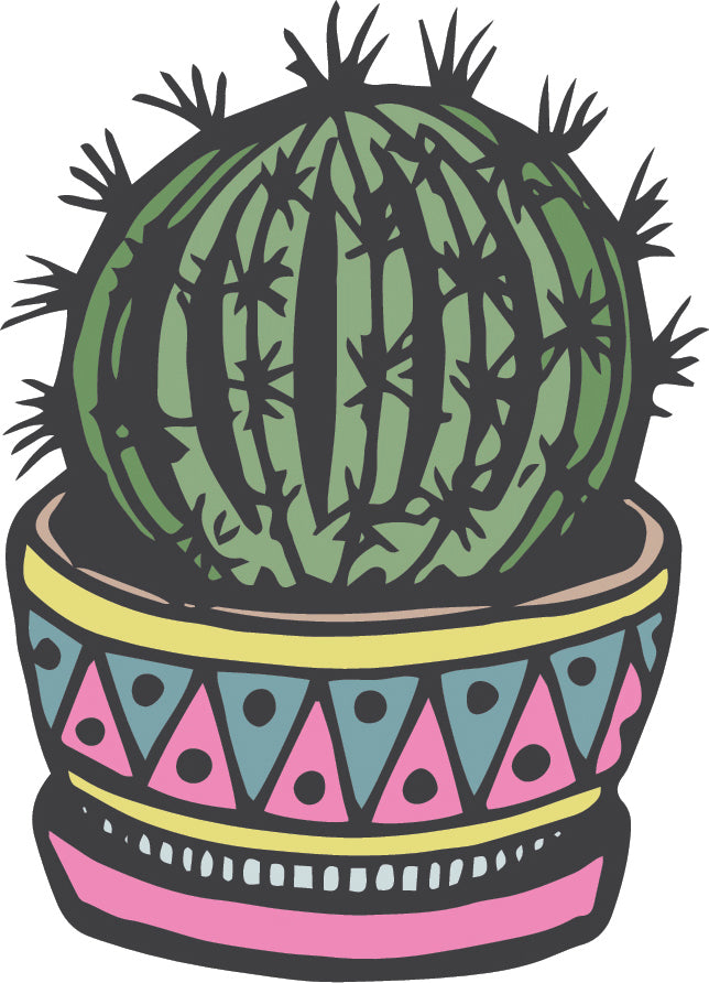Cute Adorable Desert Succulent Cactus Plant Cartoon #5 Vinyl Decal Sticker