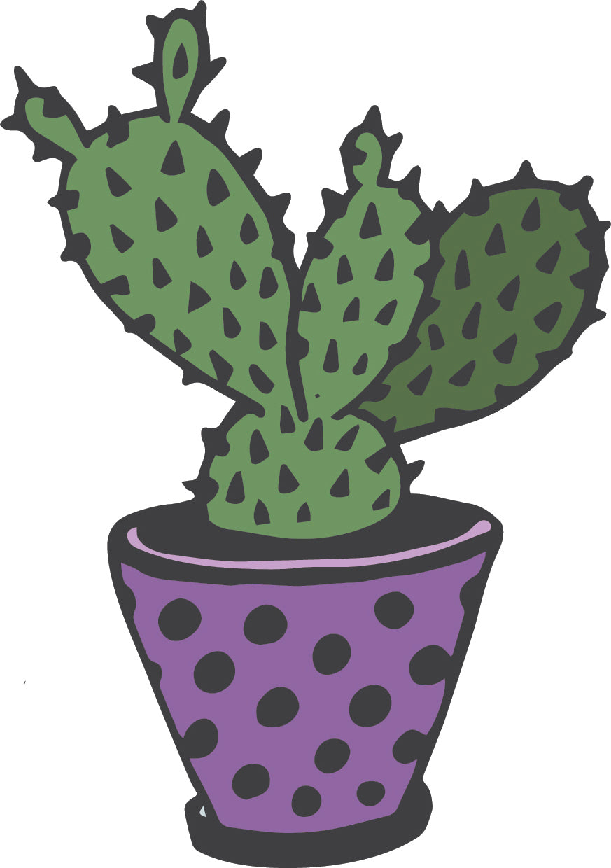 Cute Adorable Desert Succulent Cactus Plant Cartoon #8 Vinyl Decal Sticker