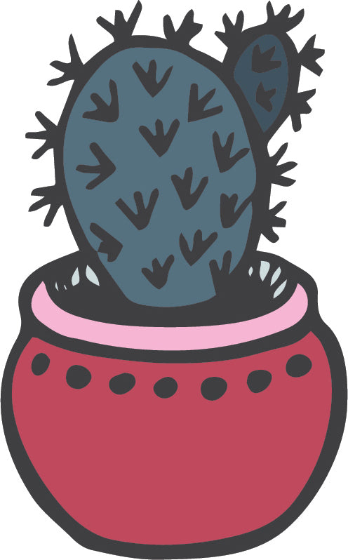 Cute Adorable Desert Succulent Cactus Plant Cartoon #9 Vinyl Decal Sticker