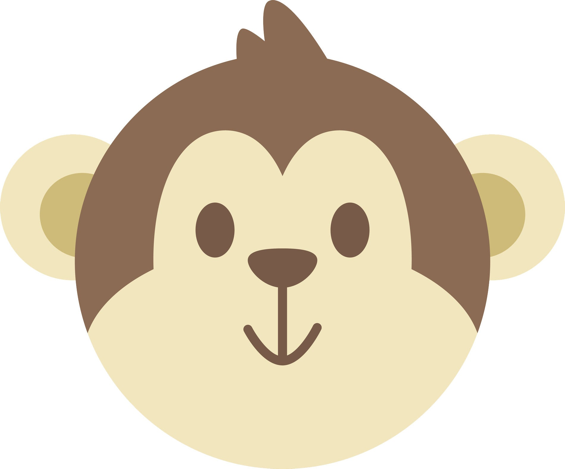 Cute Adorable Kawaii Animal Cartoon - Monkey Face Vinyl Decal Sticker
