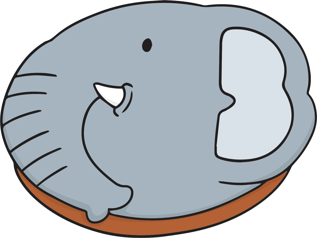Cute Adorable Kawaii Animal Donut Cartoon - Elephant Vinyl Decal Sticker