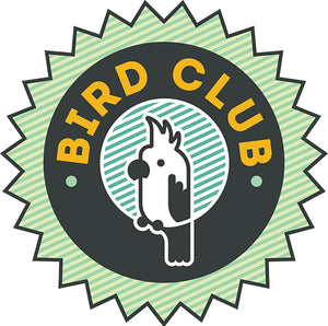 Cute Animal Pet Service Cartoon Logo Icon - Bird Club Vinyl Decal Sticker