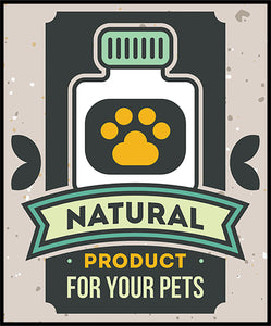Cute Animal Pet Service Cartoon Logo Icon - Natural Products Vinyl Decal Sticker