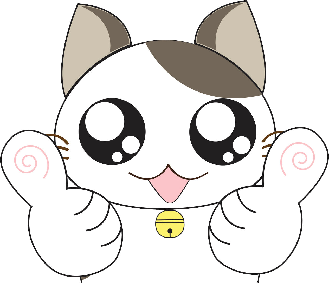 Cute Asian Anime Kitty Cat - Thumbs Up Vinyl Decal Sticker