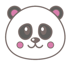 Cute Baby Cartoon Animal - Panda Bear Vinyl Decal Sticker
