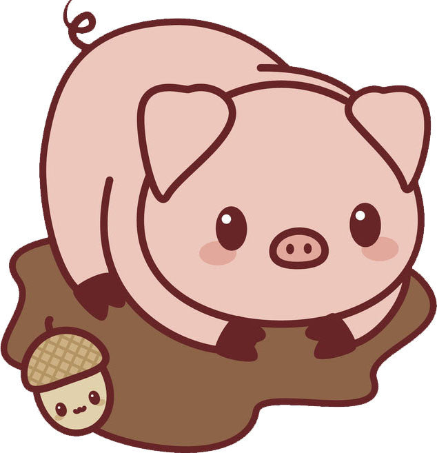 Cute Baby Country Animal - Piggie Piglet Vinyl Decal Sticker