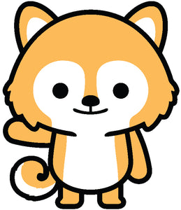 Cute Baby Fox Shiba Inu Puppy Dog Cartoon Emoji #1 Vinyl Decal Sticker