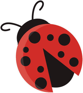 Cute Baby Friendly Forest Animal Creature - Lady Bug Vinyl Decal Sticker