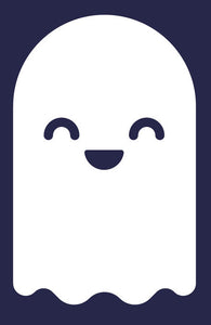Cute Baby Ghost Emoji #2 Vinyl Decal Sticker