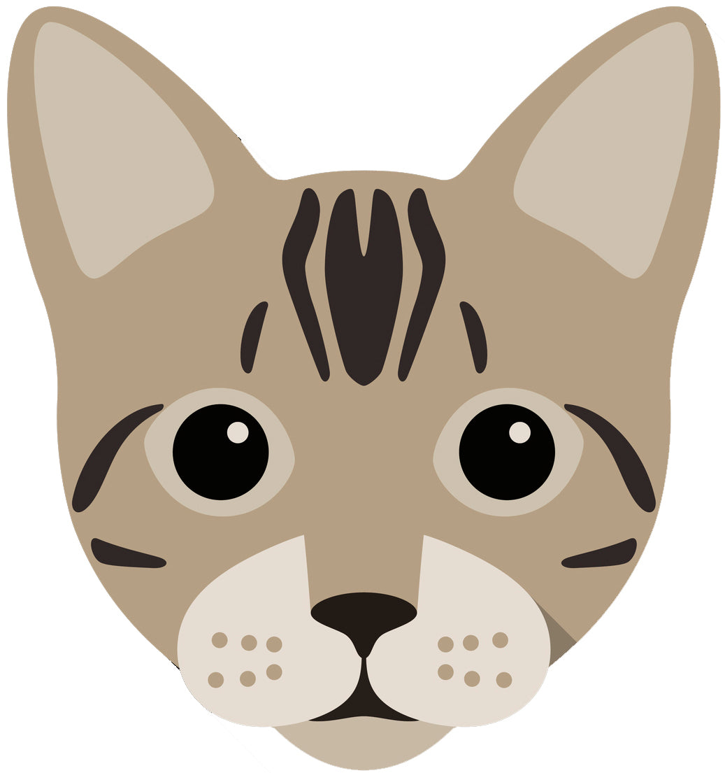 Cute Bengal Kitty Cat Vinyl Decal Sticker