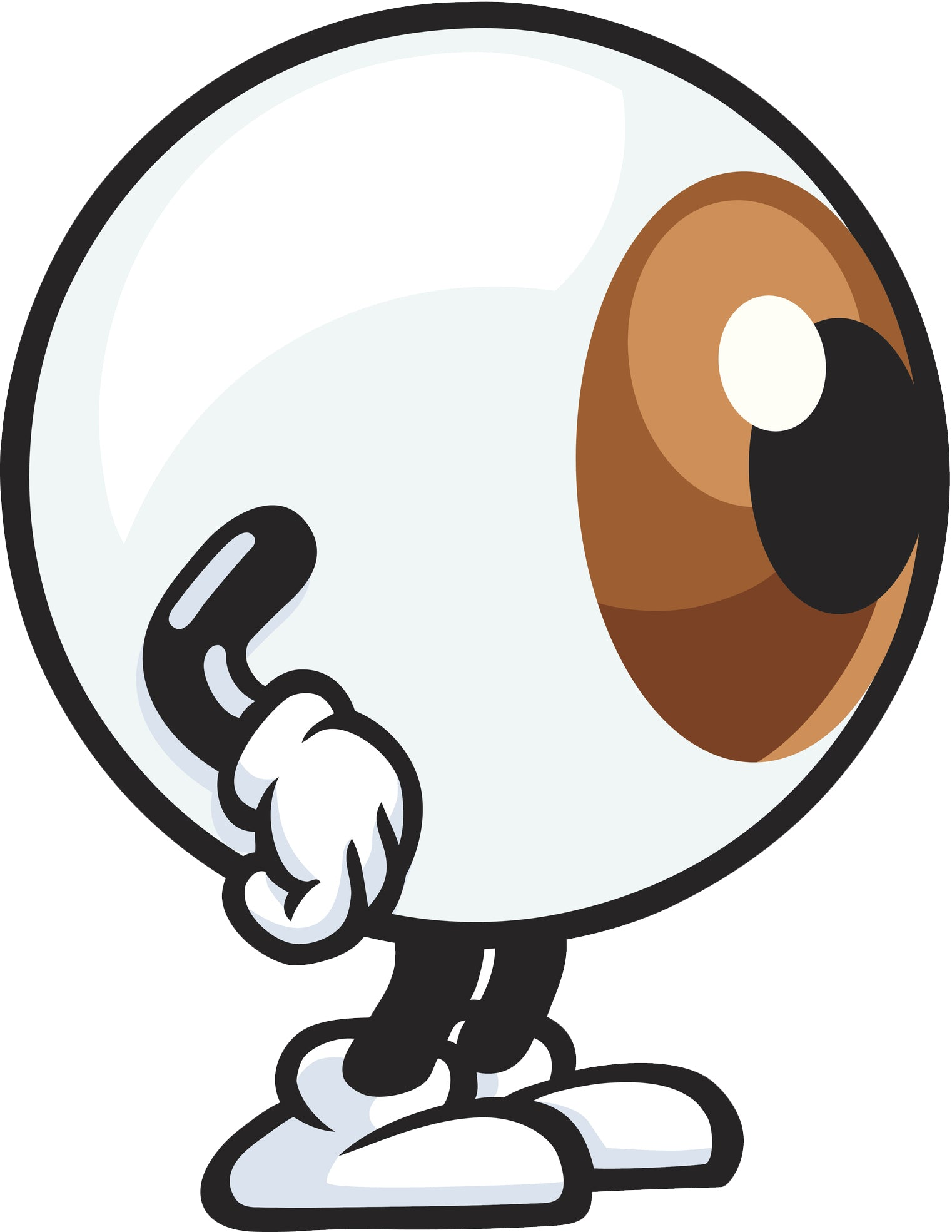 Cute Big Eyeball with Arms and Legs Monster Vinyl Decal Sticker