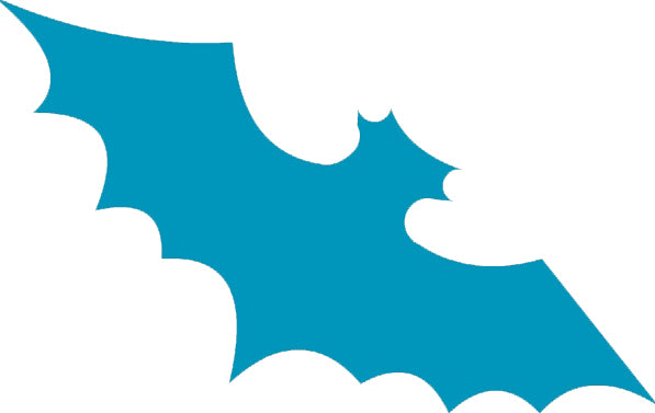 Cute Blue Animal Insect Zoo Cartoon Icon - Bat Vinyl Decal Sticker