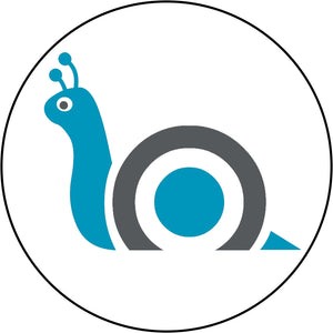 Cute Blue Animal Insect Zoo Cartoon Icon - Snail Border Around Image As Shown Vinyl Decal Sticker