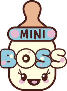 Cute Blue Girly Kawaii Candy Letters Icon - Mini Boss Bottle Vinyl Decal Sticker