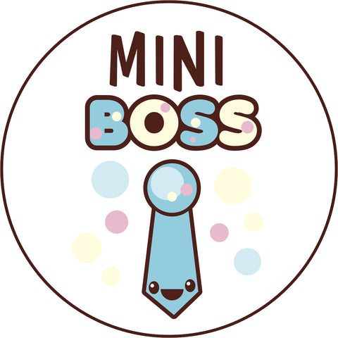 Cute Blue Girly Kawaii Candy Letters Icon - Mini Boss Tie Vinyl Decal Sticker