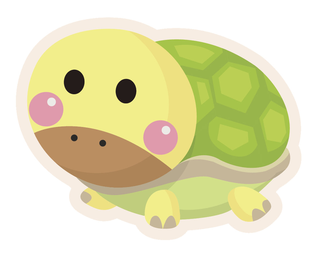 Cute Blushing Baby Animal - Turtle #4 Vinyl Decal Sticker
