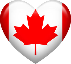 Cute Bubble Heart Shaped Canadian Flag Vinyl Decal Sticker