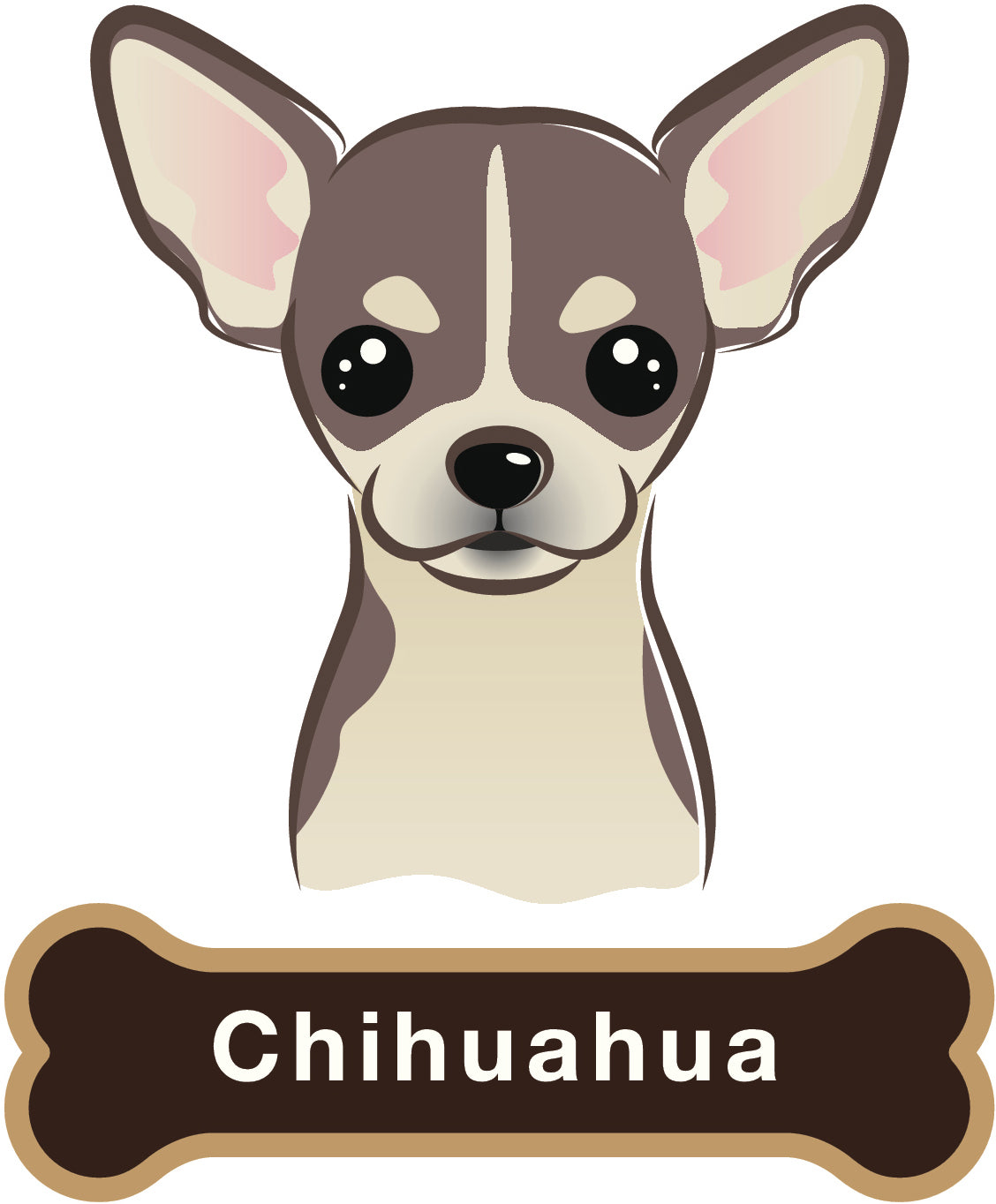 Cute Chihuahua Dog Vinyl Decal Sticker