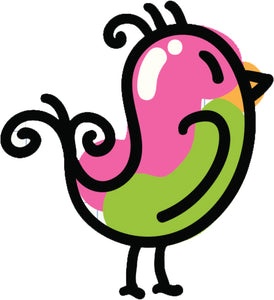 Cute Colorful Baby Chick Chicken Drawing Cartoon #8 Vinyl Decal Sticker