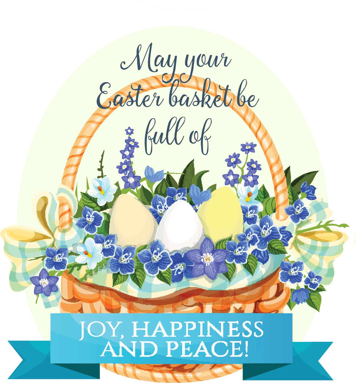 Cute Colorful Blessed Easter Cartoon Icon #6 Vinyl Decal Sticker