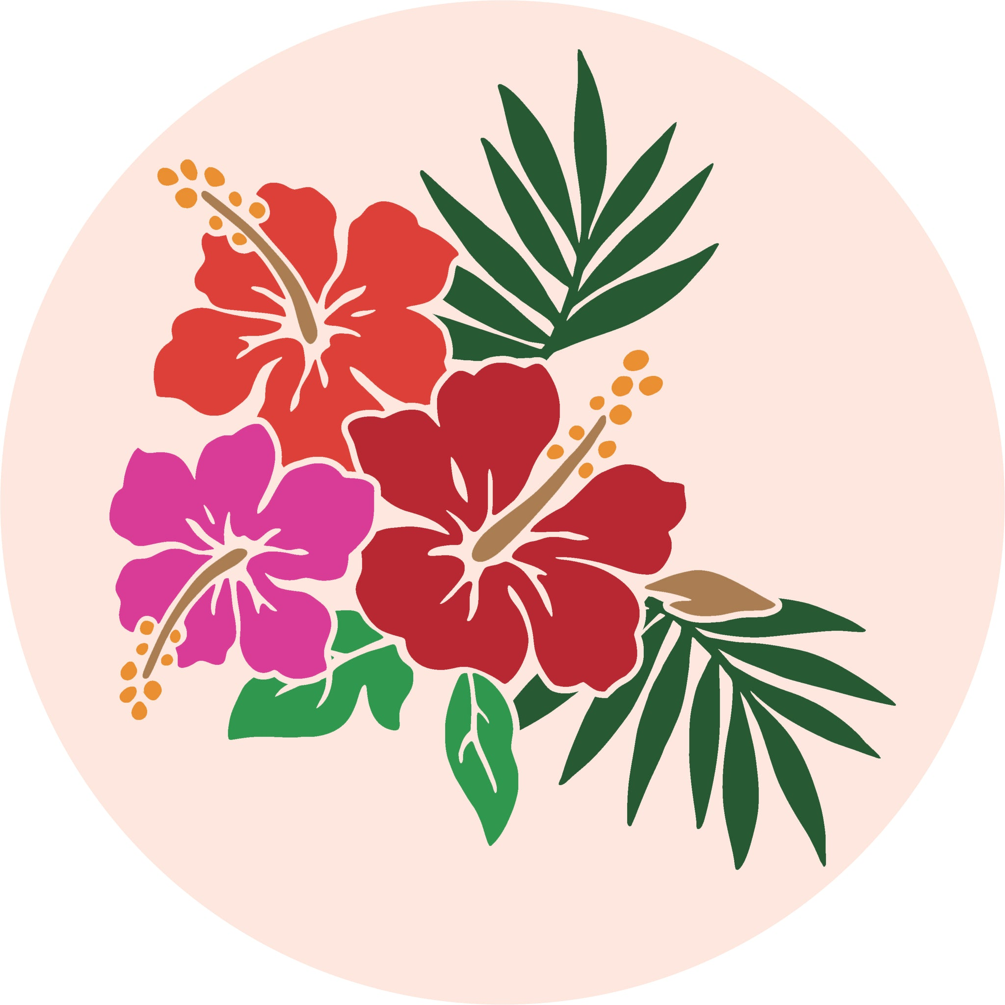 Cute Colorful Hawaiian Island Tropical Cartoon Icon #2 Vinyl Decal Sticker