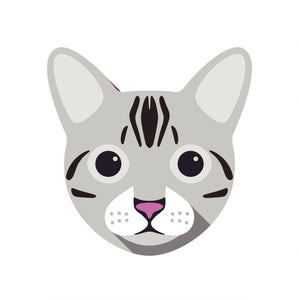 Cute Egyptian Mau Kitty Cat Vinyl Decal Sticker