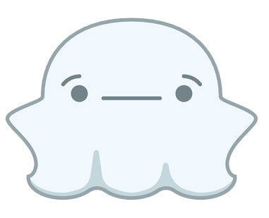 Cute Fat Baby Ghost Emoji - Annoyed Vinyl Decal Sticker