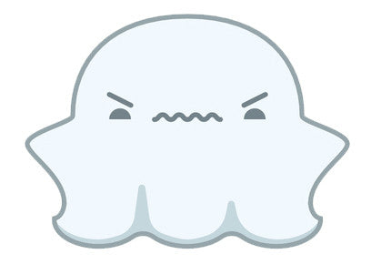 Cute Fat Baby Ghost Emoji - Frustrated Vinyl Decal Sticker